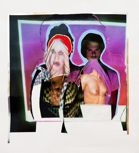 Pastel, c-print, tape (2012)