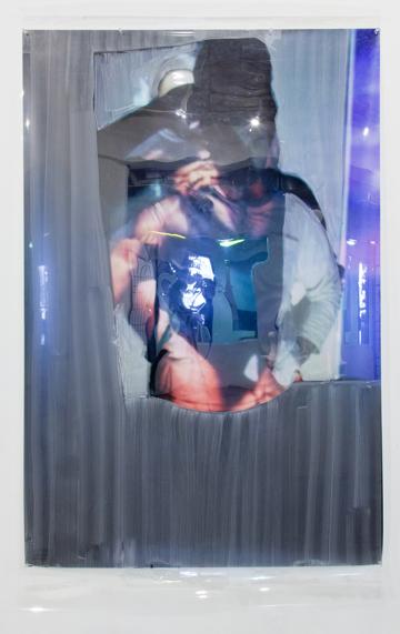 """60"""" x 40"""", mixed media sculpture"""